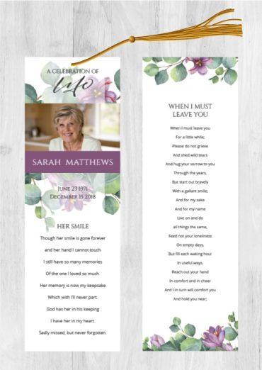 Funeral Program Bookmark 1097