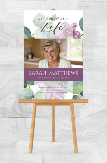 Memorial Poster For Funerals To Remember A Loved One