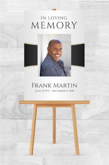 In Loving Memory Memorial Poster For Funerals