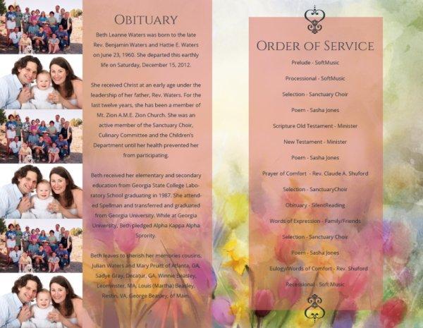 Funeral Program 1099