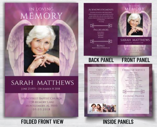 Custom Memorial Program Prints