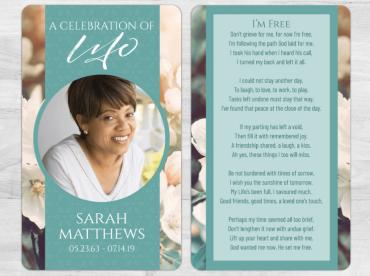 Memorial Prayer Card 1098