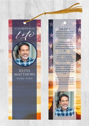 Funeral Program Bookmark 2015