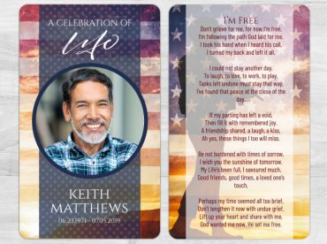 Memorial Prayer Card 2015