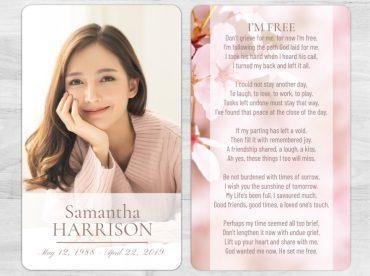 Memorial Prayer Card 2017