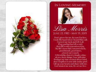 Memorial Prayer Card 1023