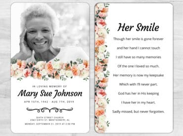 Memorial Prayer Card 2036