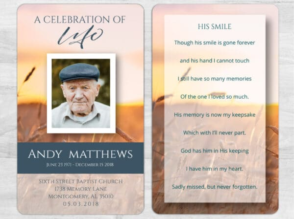 Let Us Help You With A Custom Funeral Prayer Card