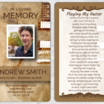 Memorial Prayer Card 1073