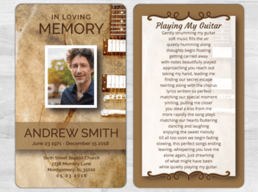 Memorial Prayer Card 1073