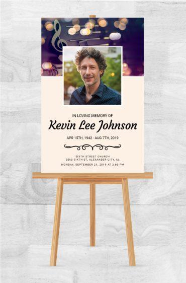 In Loving Memory Memorial Service Posters