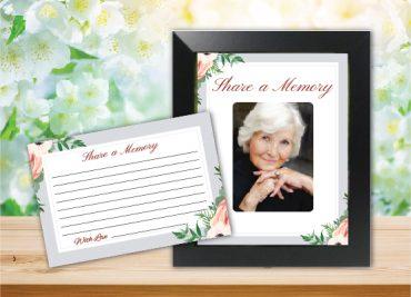 Funeral Program Share a Memory 1070