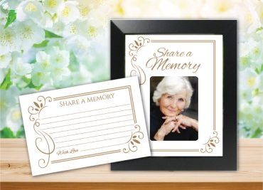 Funeral Program Share a Memory 1082