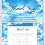 Funeral Program Thank You Card 1085