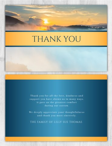Funeral Program Thank You Card 1092
