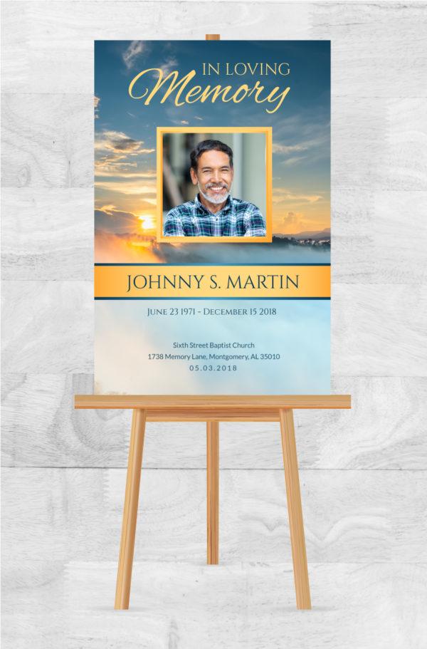 In Living Memory Funeral Poster