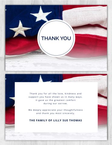 Funeral Program Thank You Card 1094