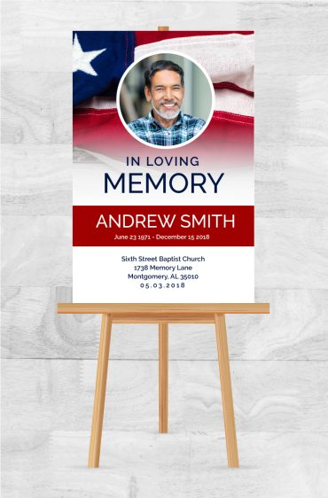 Memorial Service Poster To Celebrate A Loved One