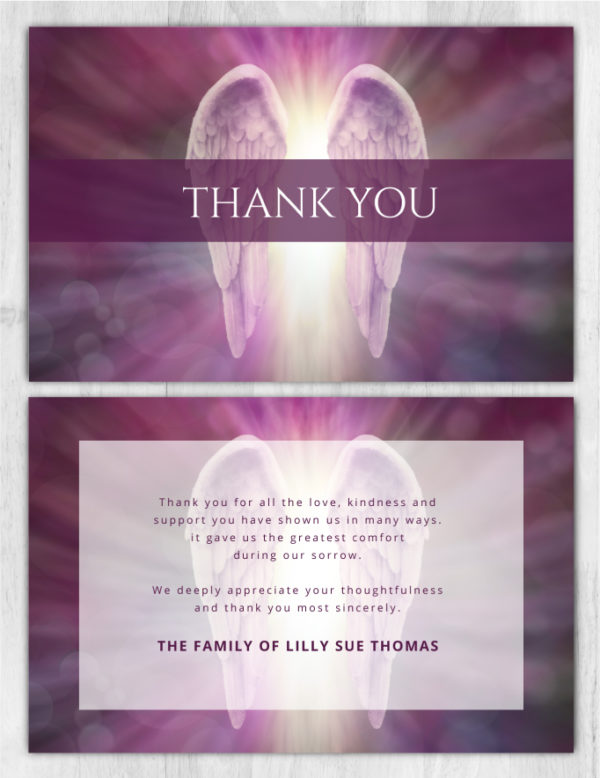 Funeral Program Thank You Card 2006