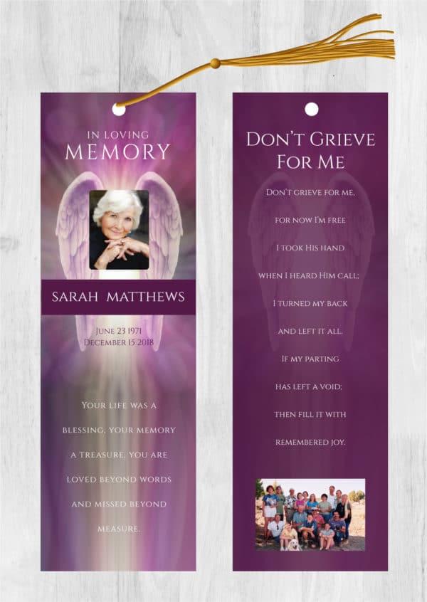 Funeral Program Bookmark 2006