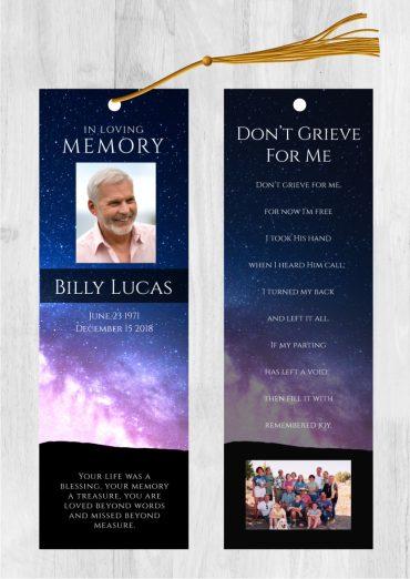 Funeral Program Bookmark 2009