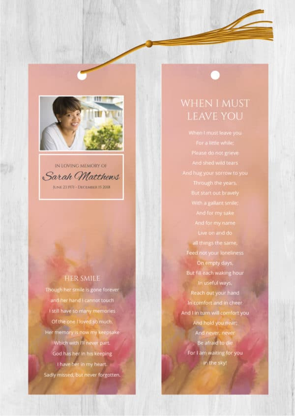 Our Funeral Bookmark Printing Options