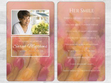 Memorial Prayer Card 1099