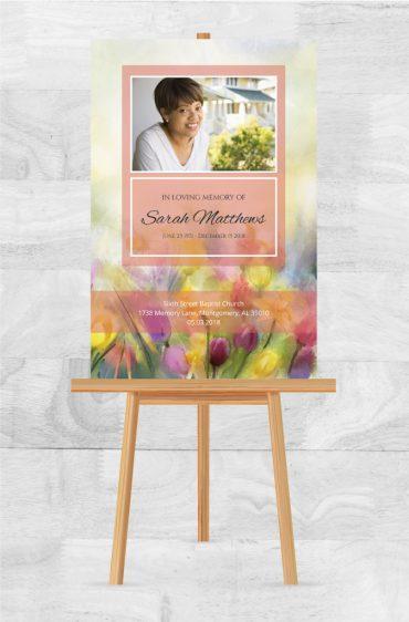 In Loving Memory Funeral Poster