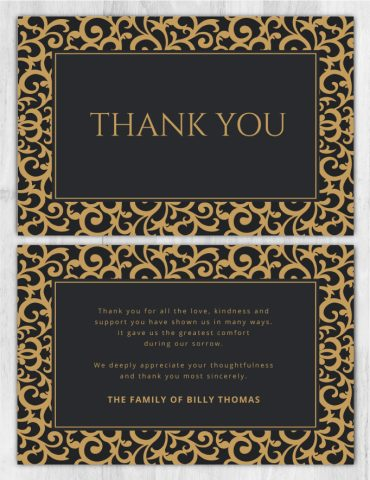 Thank you card 2005