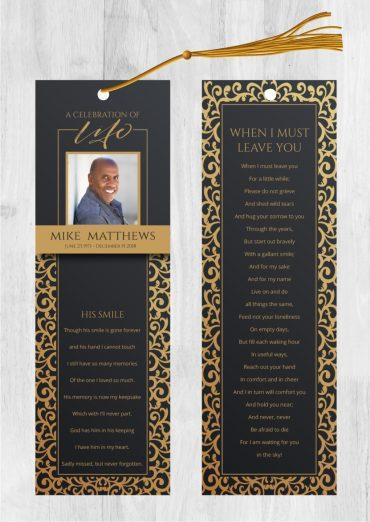Funeral Bookmark 2005