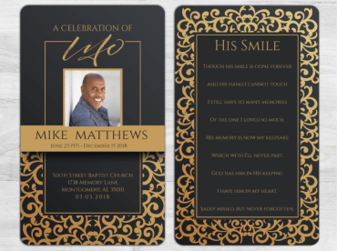 Memorial Prayer Card 2005