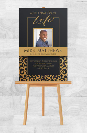 Celebrate A Loved One With A Memorial Service Poster