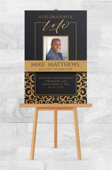 Funeral Memorial Poster 2005