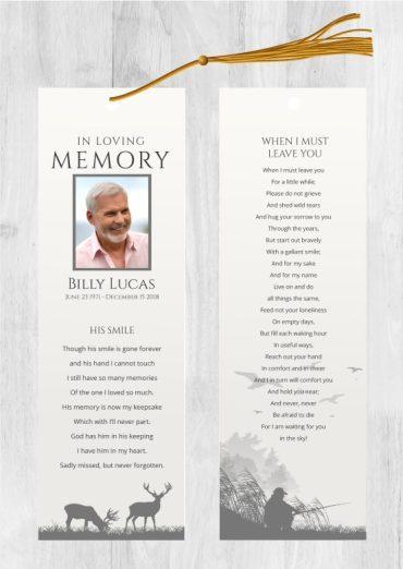 Funeral bookmark 2010
