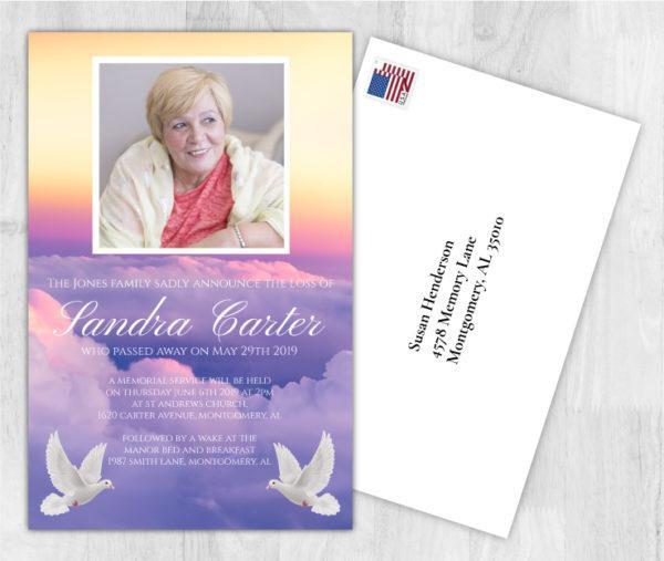 Funeral Program Death Announcement