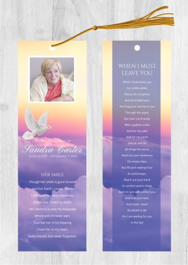 Funeral bookmark 2012