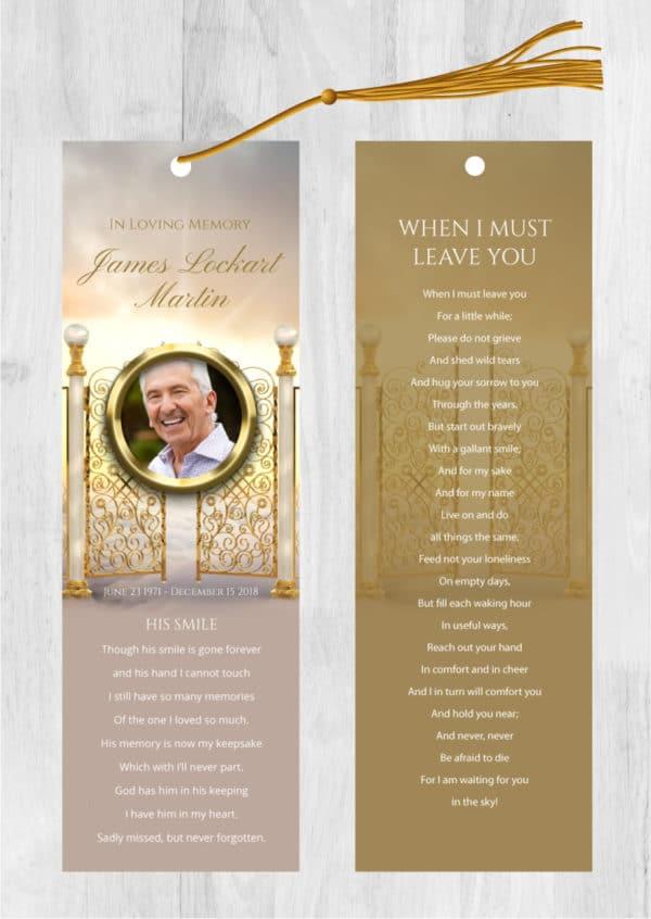 Funeral bookmark 2014