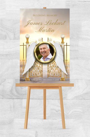 Funeral memorial poster 2014