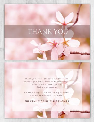 Thank You Card 2017