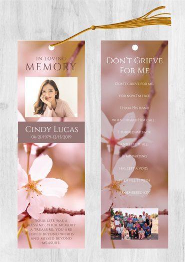 Funeral bookmark 2017