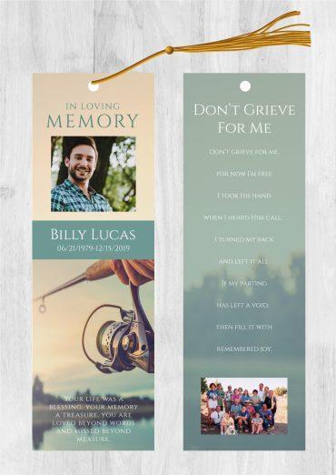 Funeral bookmark 2018
