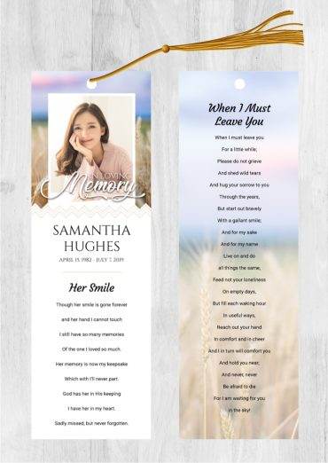 Funeral Program Bookmark 2027