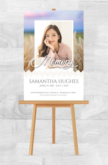 Funeral Program Memorial Poster 2027