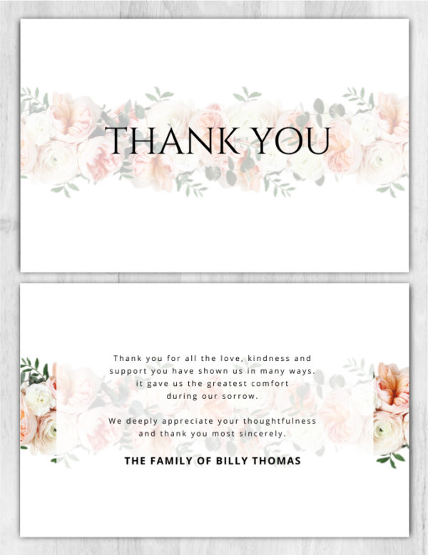 Thank You Card 2036