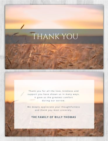 Thank You Card 2037