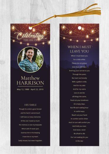 Funeral Bookmark 2045