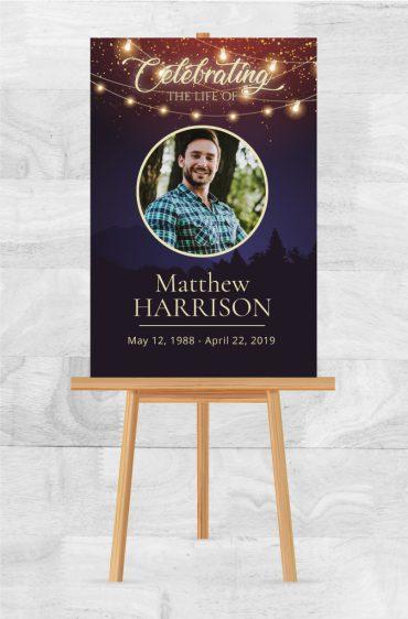 Funeral Memorial Poster 2045