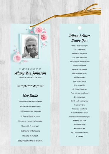 Funeral bookmark 2046
