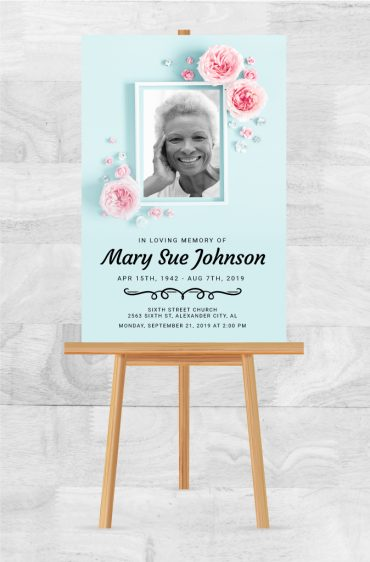 Remember A Loved One With A Memorial Service Poster