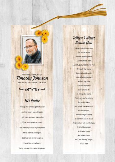 Funeral Program Bookmark 2049